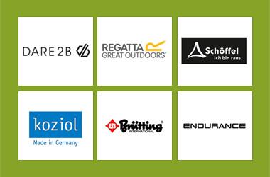 Unsere Marken Dare2b, Regatta, Schöffel, Brütting und weitere