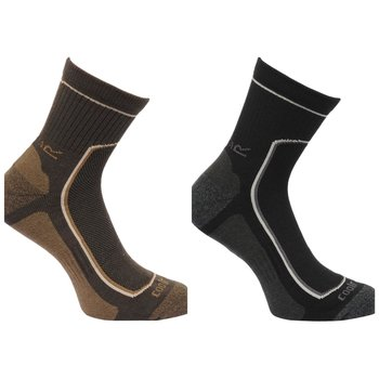 Regatta Mens Pair Socken jeweils 2 Farben Black/Clove 43-47