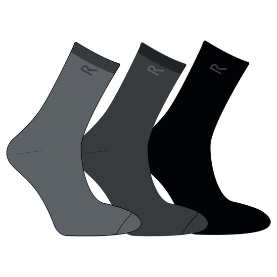 Regatta Mens 3er Pack Socken Herren B