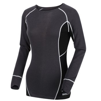 Regatta Beru Stretch Wollmix Funktionsshirt Damen Seal...
